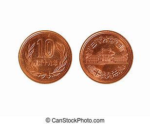 japansk, 10, yen, mynt