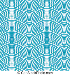 japończyk, seamless, falistość oceanu, stuk