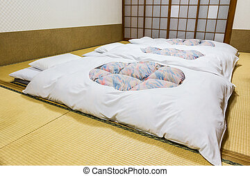 japończyk, tradycyjny, inn., ryokan, hotele