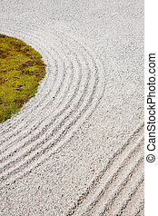 japonés, arena, arte