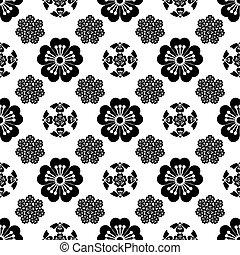 japonés, flor, Ilustración,  seamless, estilizado,  sakura, simbolismo