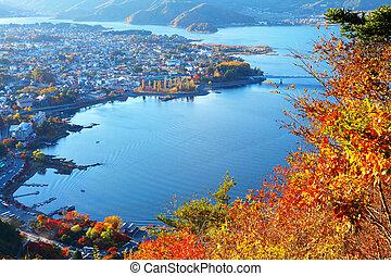 japonés, lago kawaguchi