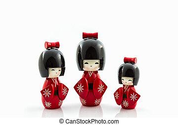 japonés, Muñecas,  kokeshi