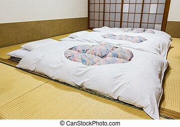 japonés, tradicional, inn., ryokan, hoteles