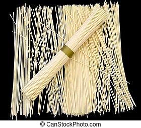 japonés, trigo, tallarines