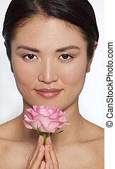japonština eny, s, karafiát, jeden, růže