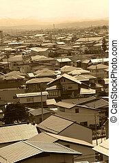 japonština, město