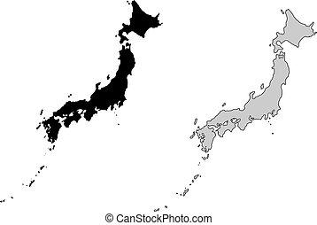 japon, carte