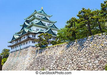 japon, château, nagoya, jour
