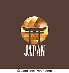 japon, diamant, illustration, portail