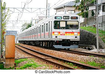japon, gare, local