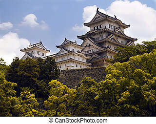 japon, himeji, -, château