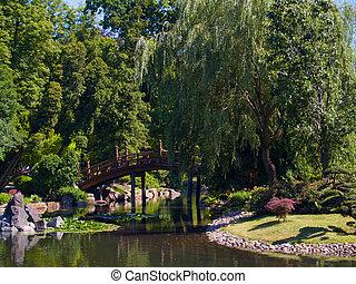 japon, jardin, wroclaw, pologne