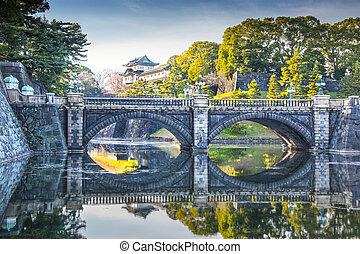 japon, palais, impérial