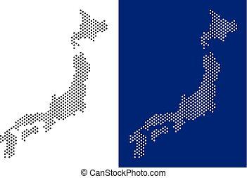 japon, point, carte