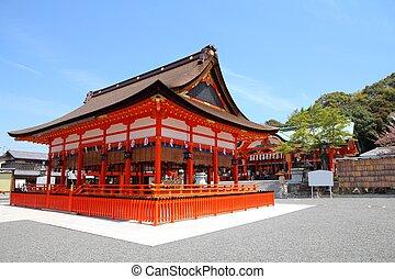 japon, sanctuaire, -, inari