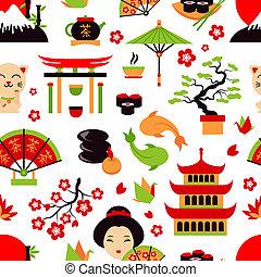 japon, seamless, modèle