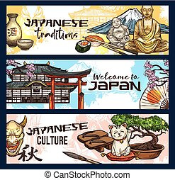 japon, symboles, de, histoire, religion, et, culture
