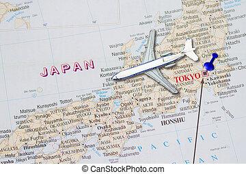 japon, voyage, concept