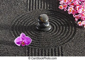 japon, zen jardin