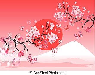japonaise, cerisier
