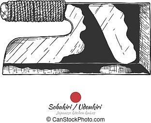 japonaise, couteau cuisine