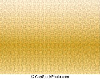 japonaise, modèle, arrière-plan doré, image