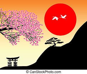 japonaise, paysage