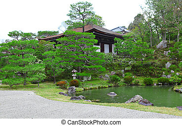 japonaise, style, jardin