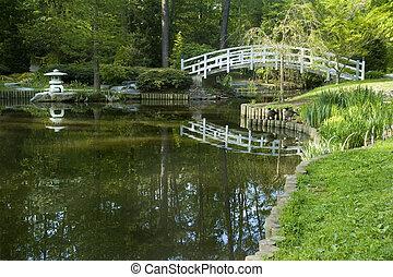 japonaise, zen jardin