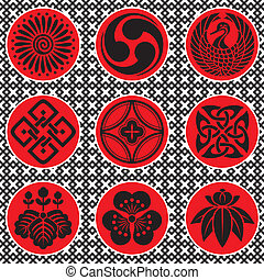 japonia, elementy, ozdoba