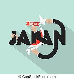 japonia, projektować, typografia