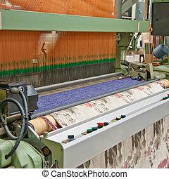 Industrial Jacquard weaving loom