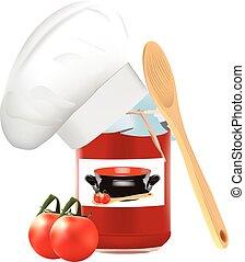 jar containing tomato juice