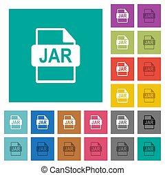 JAR file format square flat multi colored icons