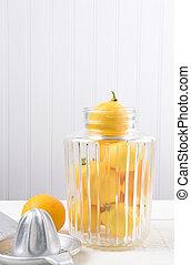 Jar Full of Whole Lemons