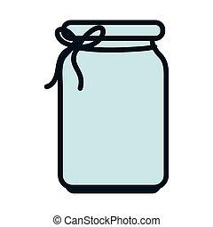 jar glass with ribbon decoration ornament icon