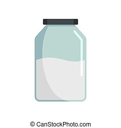 Jar icon, flat style