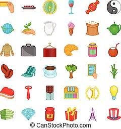 Jar icons set, cartoon style - Jar icons set. Cartoon style...