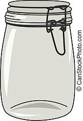Jar - Vector illustration of empty jar