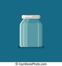 Jar in flat style