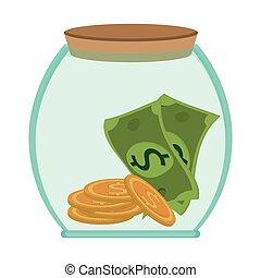 jar money bill coin business save