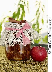 jar of apple jam