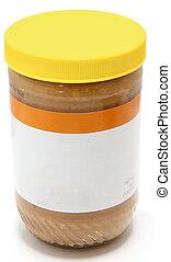 Jar of Crunchy Peanut Butter - Crunchy peanut butter jar...