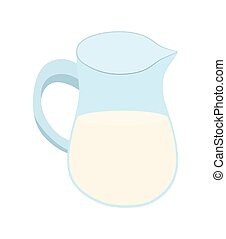 Jar of milk icon. Bakery ingredient design. Vector graphic