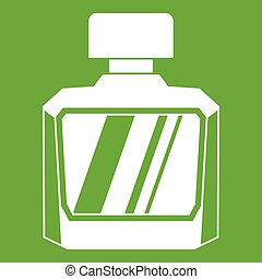 Jar of perfume icon green