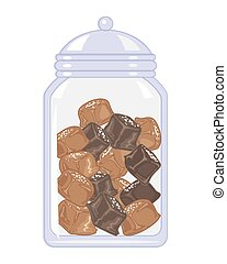 jar of salted caramels