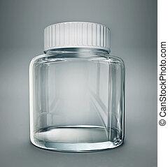 jar - glass jar isolated on a grey background