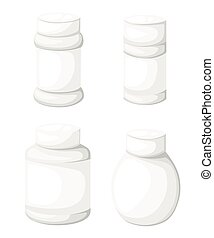Jar tablet set Flat design style vector illustration.
