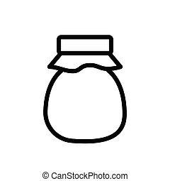 jar thin line icon